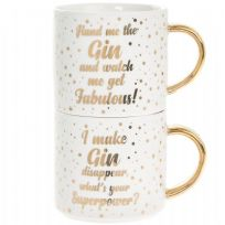 Gold Dots Gin Stacking Mug Set